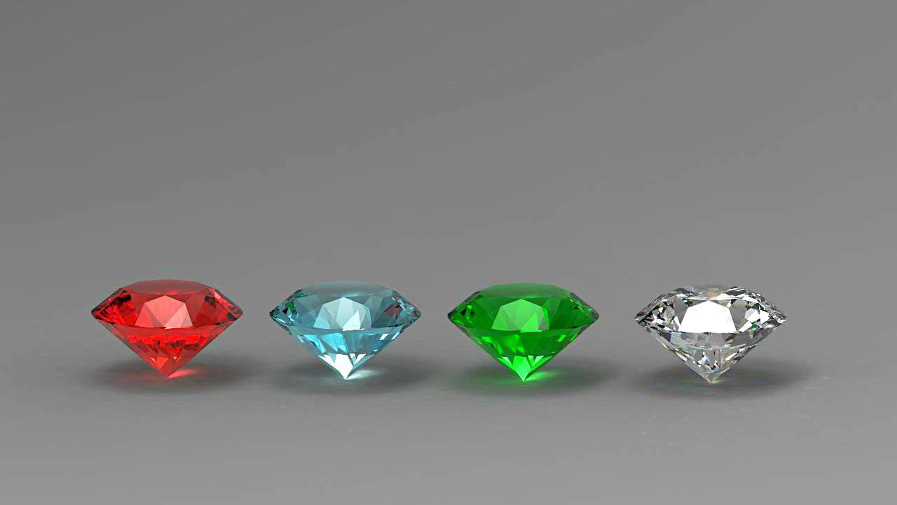 cut diamonds 3d model