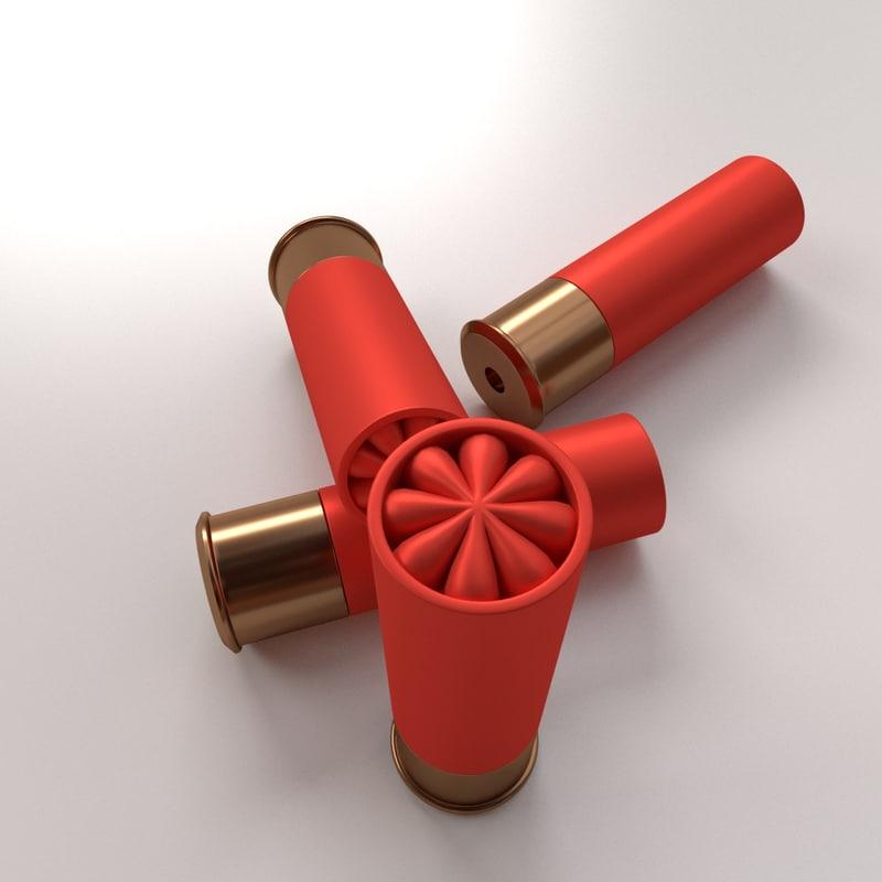 3ds max shotgun shells