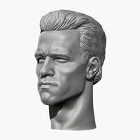arnold schwarzenegger head 2 3d obj