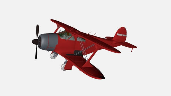 3d beech 17 staggerwing model