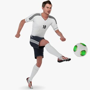 3d model soccer player character rigged