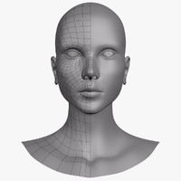 3d female head model