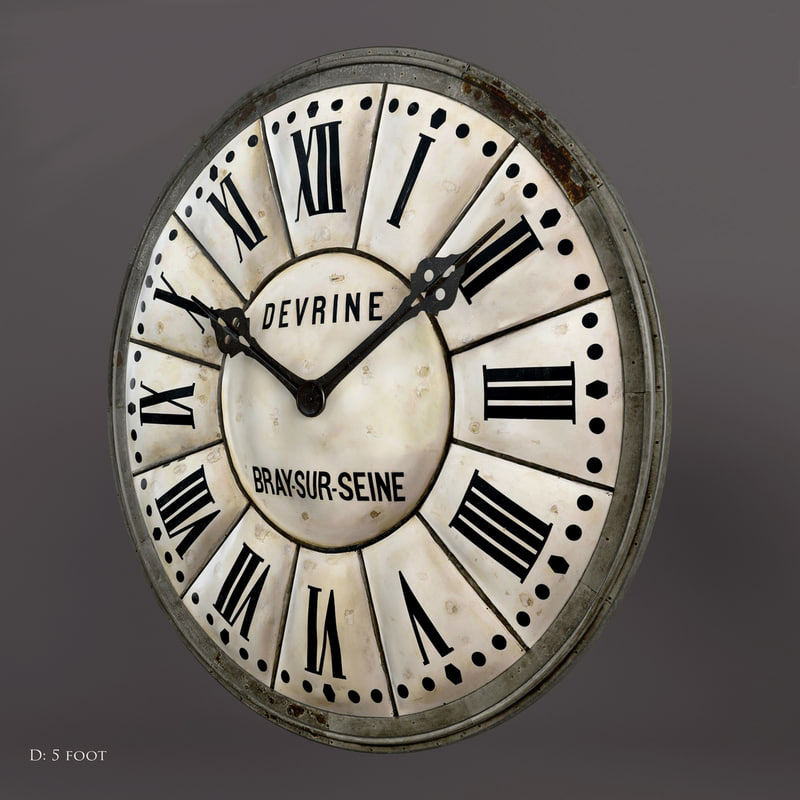 french tower clock 3d obj