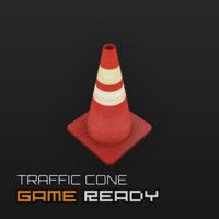 ready traffic cone 3d 3ds
