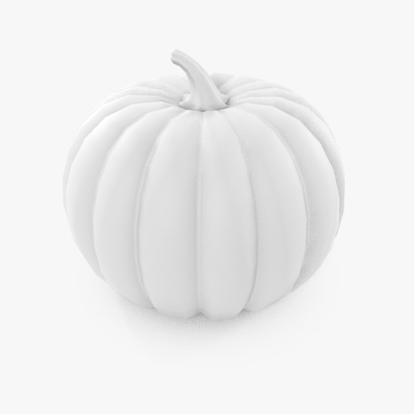 3d model low-poly pumpkin v1