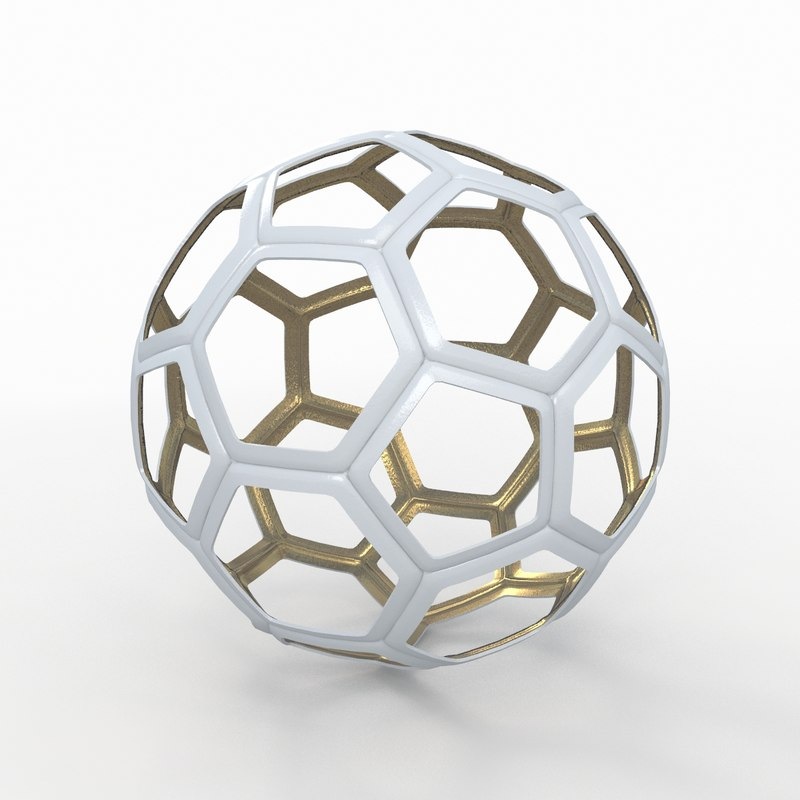 3d 3ds soccer ball white