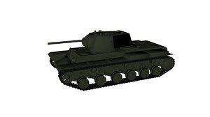 tank kv-1 3d model