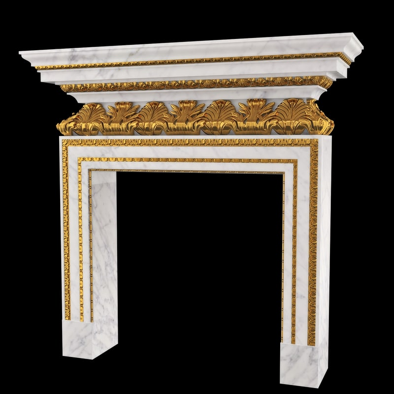 3d classical chimney portal model