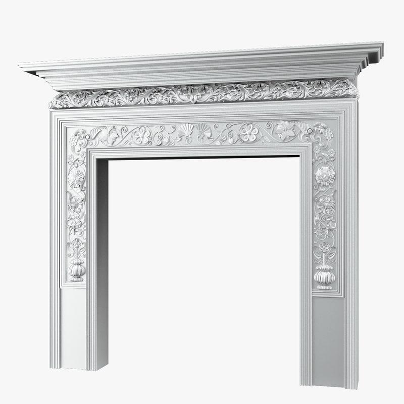 classical chimney portal 3d model