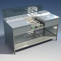 3d model creperie station