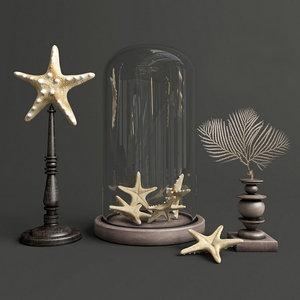 3d decor starfish