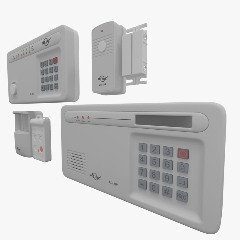 wireless alarm skylink sc-1000 3d max