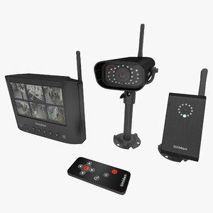 3d model of wireless surveillance uniden udw20055