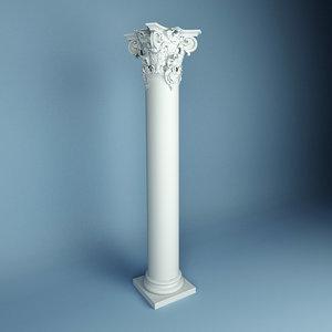 column peterhof ka 3d model