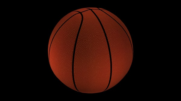 basketball ball basket 3d max