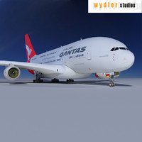 a380 qantas 3d 3ds