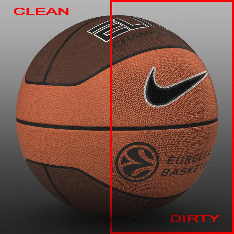basket ball bicolor 3d 3ds