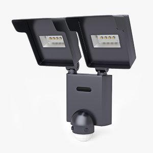 3d model led outdoor lamp intelite