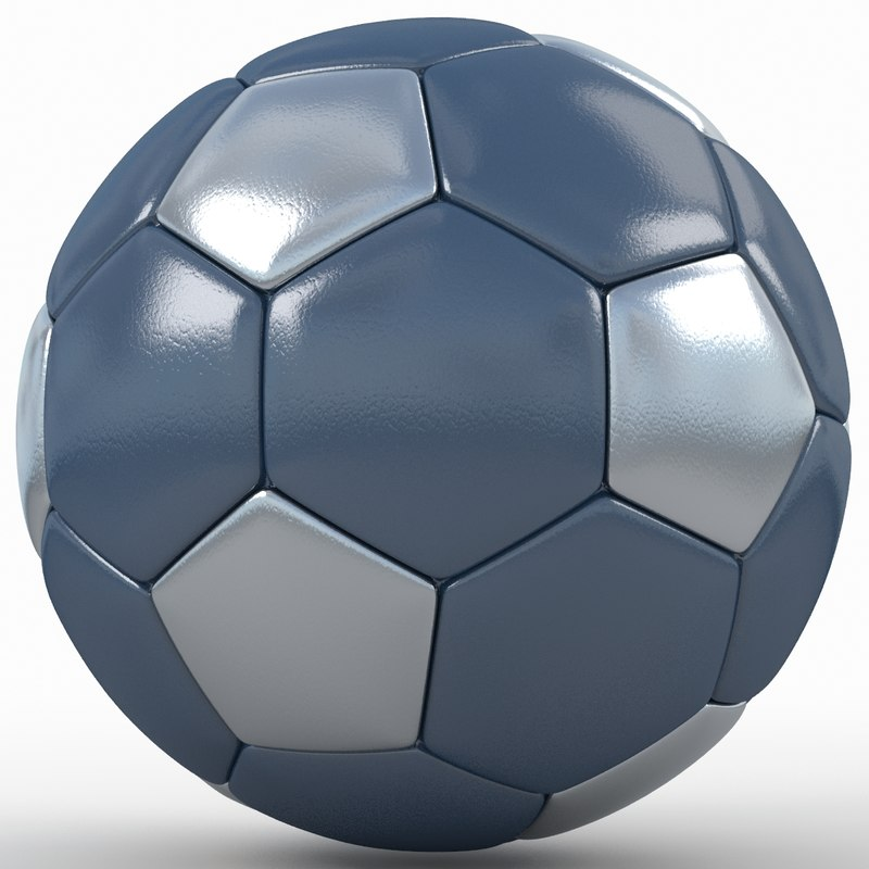 3d soccer ball black model