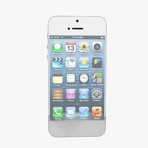 iphone 5 3d max