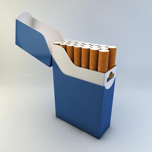 zippo cigarette pack 3d model