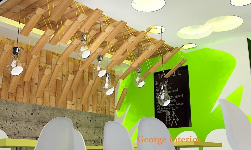 3d model interior creative fastfood