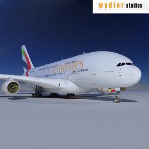3d model a380 emirates