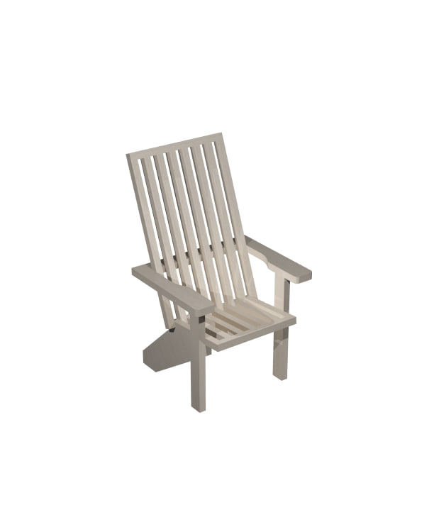 3dsmax outdoor patio adirondack chair