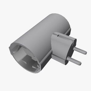 3d multiplug extension model