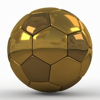 Soccerball SuperHighPoly golden