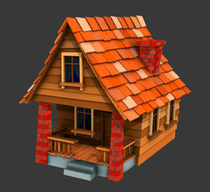 cottage house 3d x