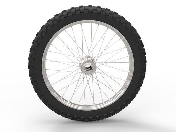 3ds max generic wheel tire motorcycle