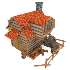 3ds woodcutters hut