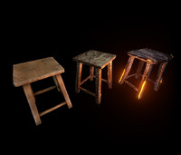 Stool Pack LowPoly