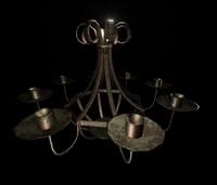 3d bronze chandelier