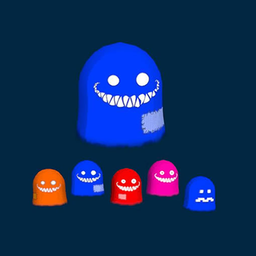ghosts pacman 3d obj
