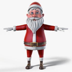 santa cartoon 3d model