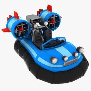cartoon hovercraft craft 3ds