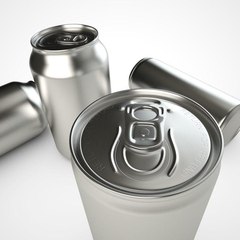 3d model pop soda cans
