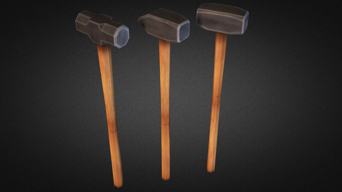 3d model sledgehammer weapons fps