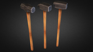 3d model sledgehammer weapons fps