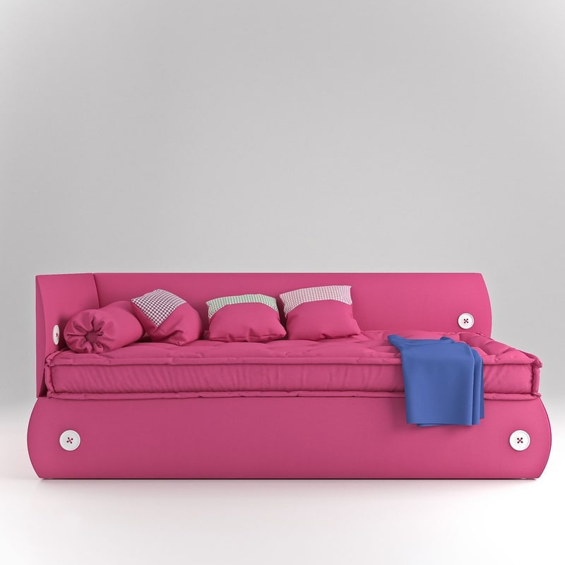 3d 3ds photorealistic bonaldo candy bed