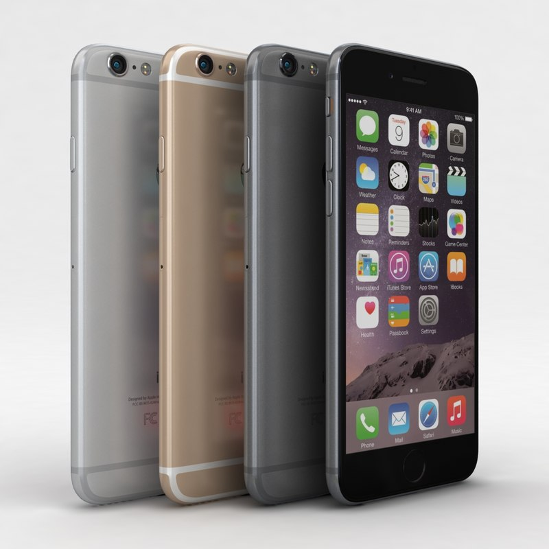 apple iphone 6 colors c4d