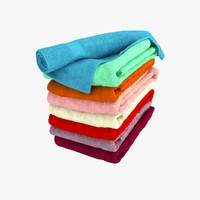 3d model folded towels