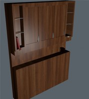 wooden wardrobe c4d