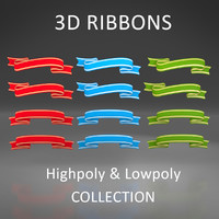 3D Ribbon Set