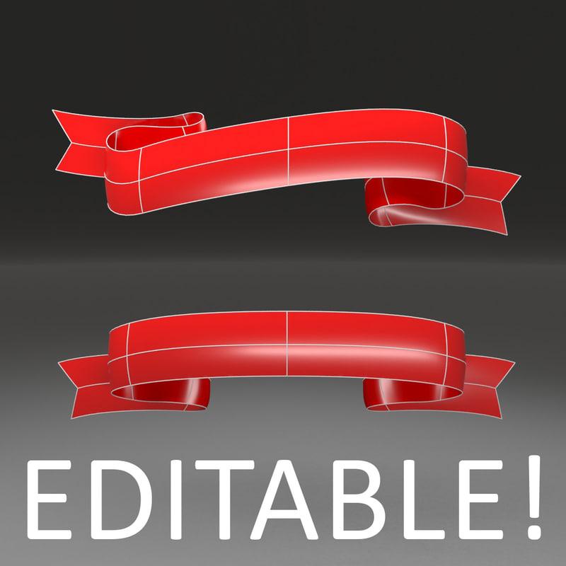 3d customizable ribbon -