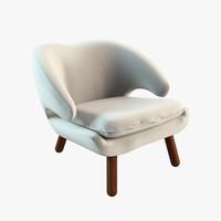 3d max pelican chair finn juhl