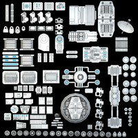 Science fiction Mechanical parts