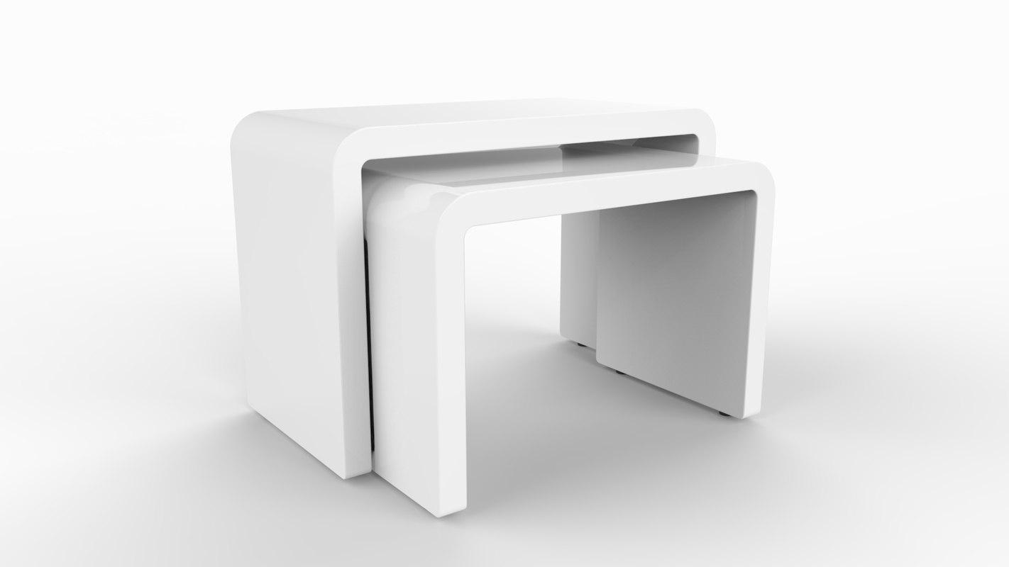 bond nest table 3d model